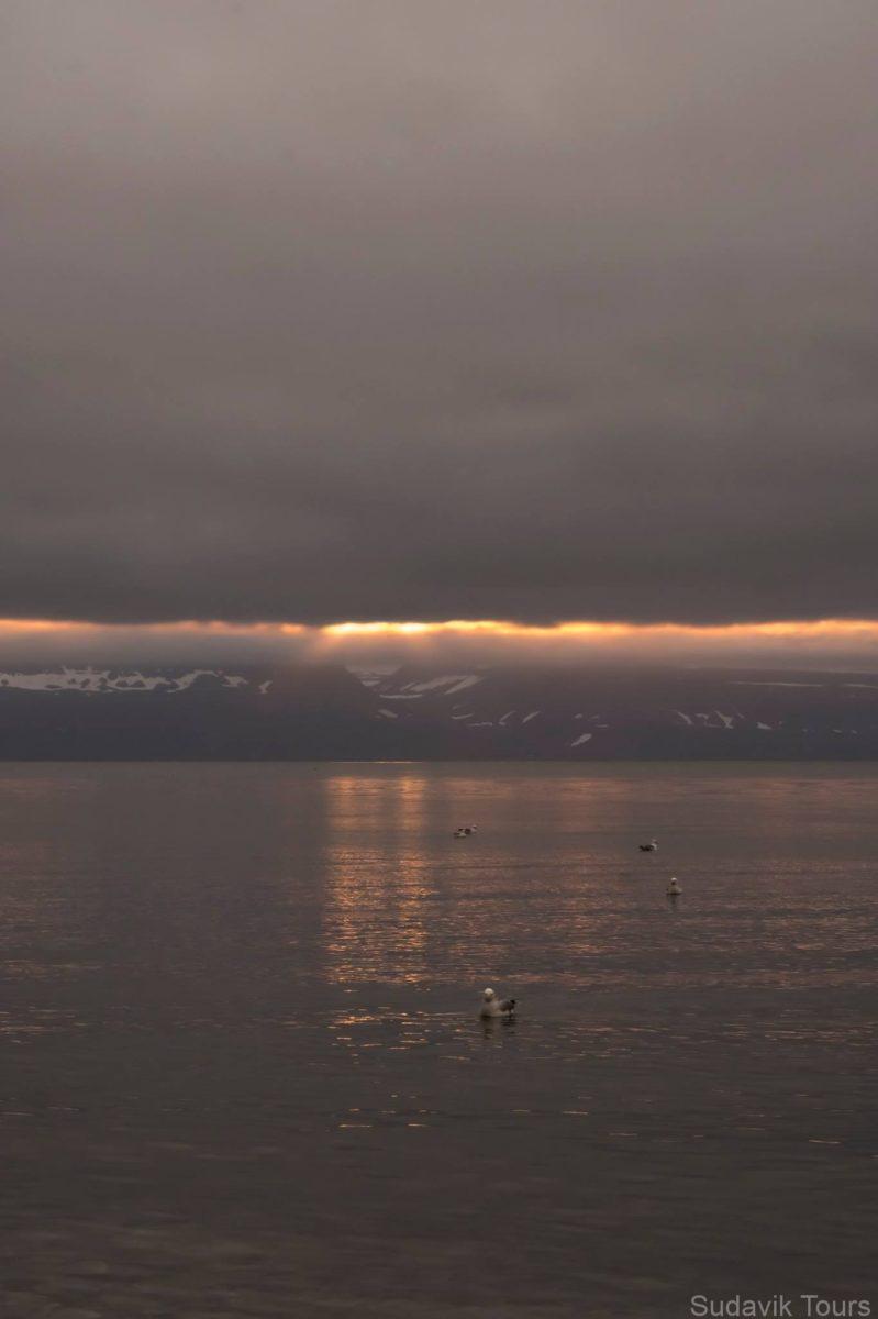 Sunrise on Sudavik Harbor